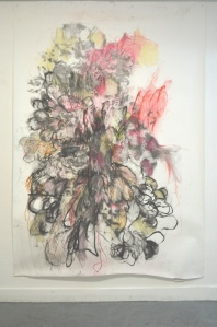 Made of  2500 x 1800mm approx charcoal, pencil, graphite and pastel 2012