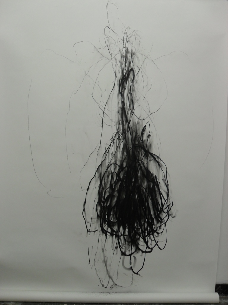 Cave 2012 1500 x 600mm charcoal on paper