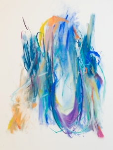 Blue Doorway, 300 x 400mm, pastel on paper 2018 SOLD