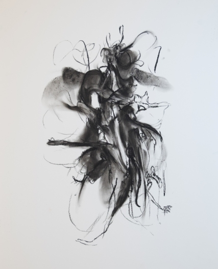 Breathing, Standing, 400 x 600mm, charcoal on paper 2018 SOLD