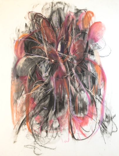 Generative Dark, 300 x 400mm, charcoal and pastel on paper 2018 SOLD