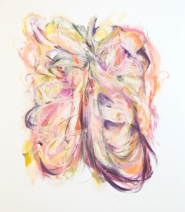 Open rib embrace, 300 x 400mm, pastel on paper 2018 SOLD