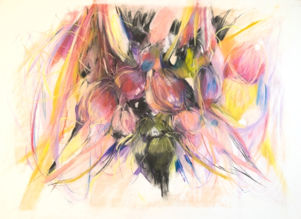 The softness, 800 x 650mm, 2018 SOLD pastel, charcoal on paper